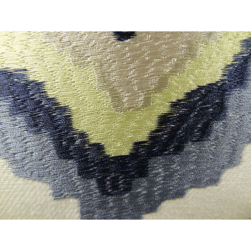 "Plutus Brands White Navy and Lime Handmade Luxury Pillow 16"" x 16"" (PBRAZ158-1616-DP)"