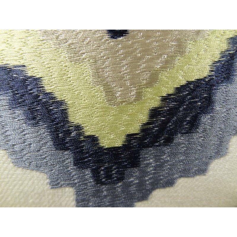 "Plutus Brands White Navy and Lime Handmade Luxury Pillow 20"" x 36"" King (PBRAZ158-2036-DP)"