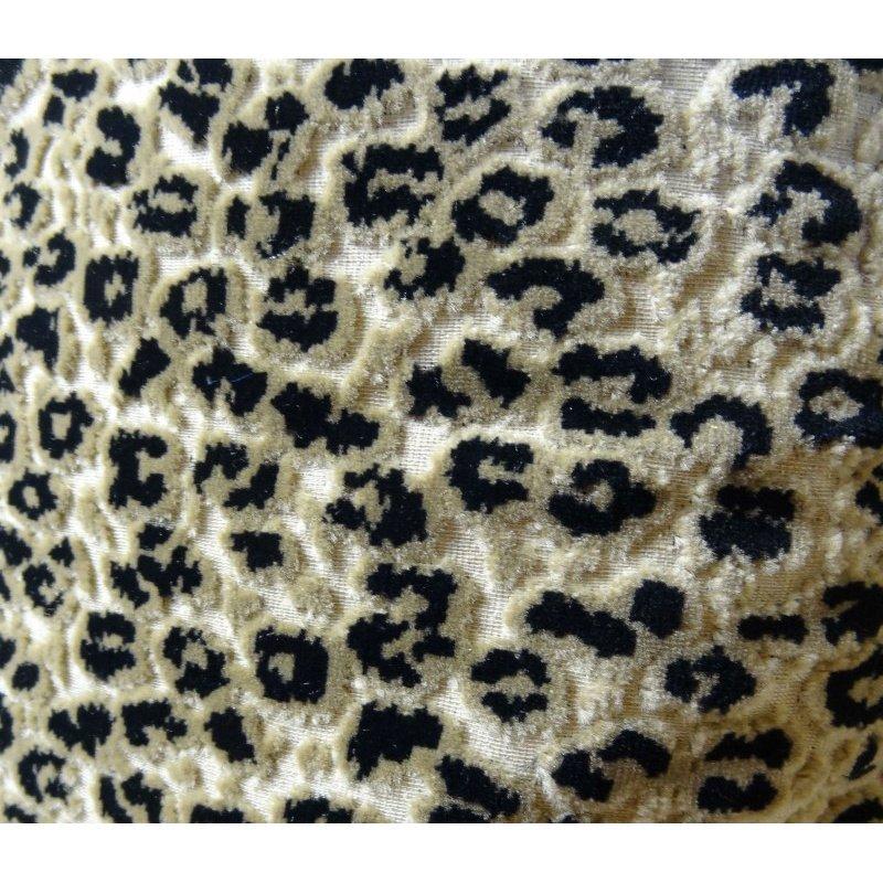 "Plutus Brands Wild Cheetah Taupe and Black Handmade Luxury Pillow 20"" x 20"" (PBRAZ020-2020-DP)"