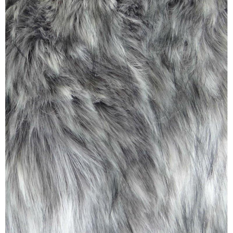 "Plutus Brands Wild Gray Wolf Gray White Handmade Luxury Pillow 20"" x 30"" Queen (PBRAZ473-2030-DP)"
