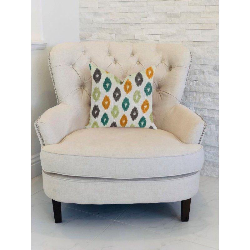 "Plutus Brands Wild Ingrid Ikat Multi Color Luxury Throw Pillow 20"" x 20"" (PBRA1363-2020-DP)"