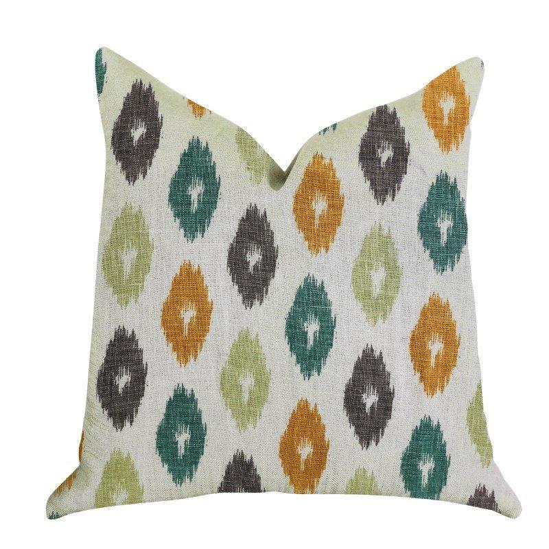 """Plutus Brands Wild Ingrid Ikat Multi Color Luxury Throw Pillow 20"""" x 36"""" King (PBRA1363-2036-DP)"""