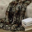 """Plutus Brands Wild Leo Faux Fur Luxury Throw Blanket 70""""L x 90""""W Twin (PBEZ1778-7090-TC)"""