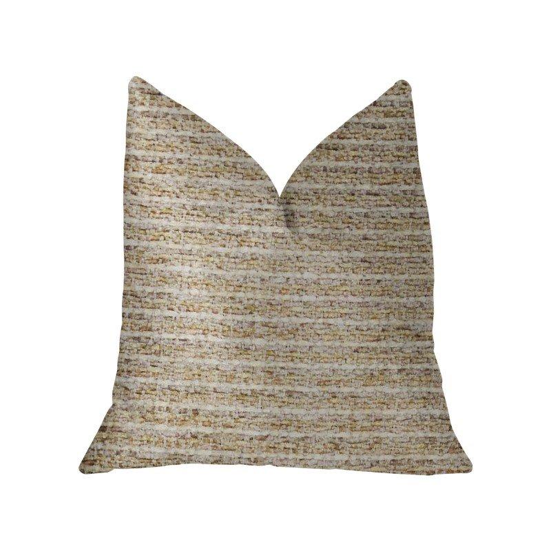 "Plutus Brands Willow Creek Beige and Ivory Luxury Throw Pillow 12"" x 20"" (PBKR1950-1220-DP)"