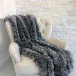"""Plutus Brands Wolf Faux Fur Grey Luxury Throw Blanket 70""""L x 90""""W Twin (PBEZ1423-7090-TC)"""