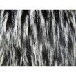 "Plutus Brands Wolf Fur Lover Black White Handmade Luxury Pillow Double Sided 24"" x 24"" (PBRAZ467-2424-DP)"