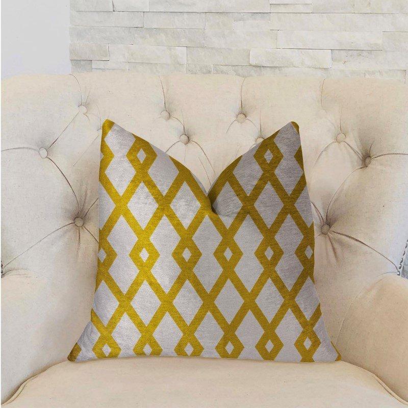 "Plutus Brands Zinnia Dust Brown and Beige Luxury Throw Pillow 24"" x 24"" (PBRA2244-2424-DP)"