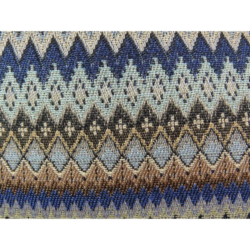 "Plutus Brands Zipline Navy Blue and Taupe Handmade Luxury Pillow 24"" x 24"" (PBRAZ302-2424-DP)"