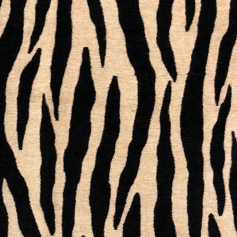 "Plutus Brands Zippy Zebra Black and Beige Luxury Throw Pillow 12"" x 20"" (PBRA2213-1220-DP)"