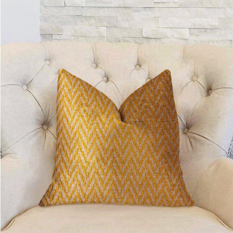"Plutus Brands Zun Rise Yellow and Beige Luxury Throw Pillow 20"" x 36"" King (PBRA2319-2036-DP)"