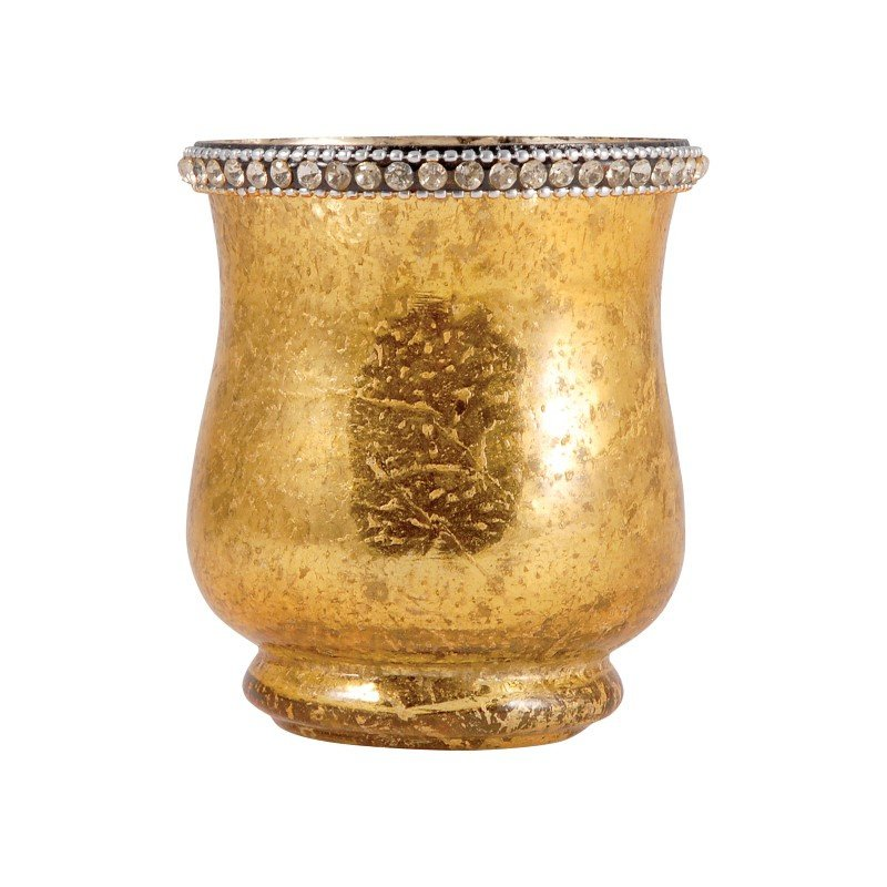 Pomeroy Sterlyn 3.8-inch Large Votive in Antique Gold Artifact (518614)