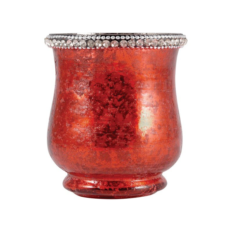 Pomeroy Sterlyn 3.8-inch Large Votive in Antique Red Artifact (518591)