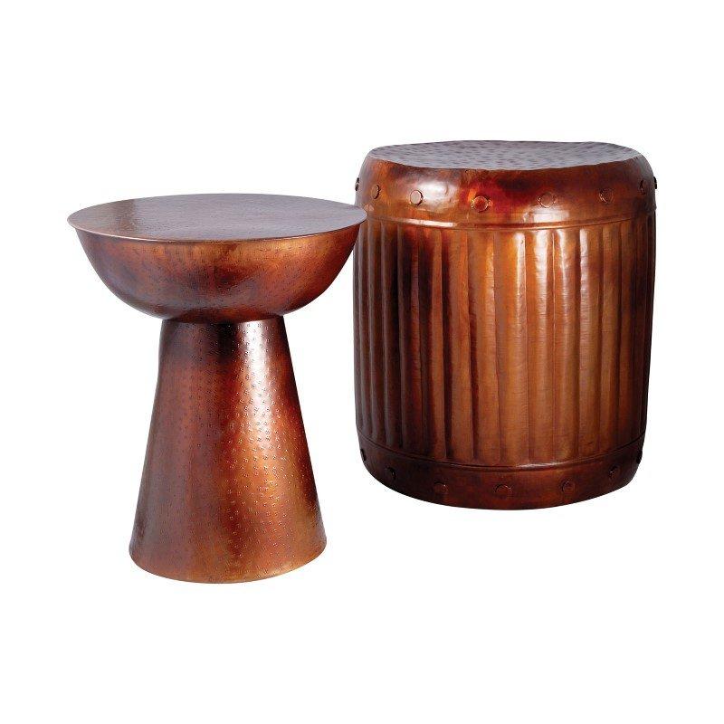Pomeroy Truffle Table And Barrel Stool (Set of 2)  (951626)