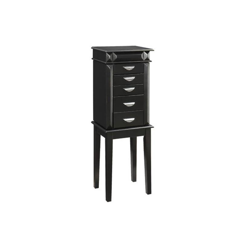 Powell Black Jewelry Armoire