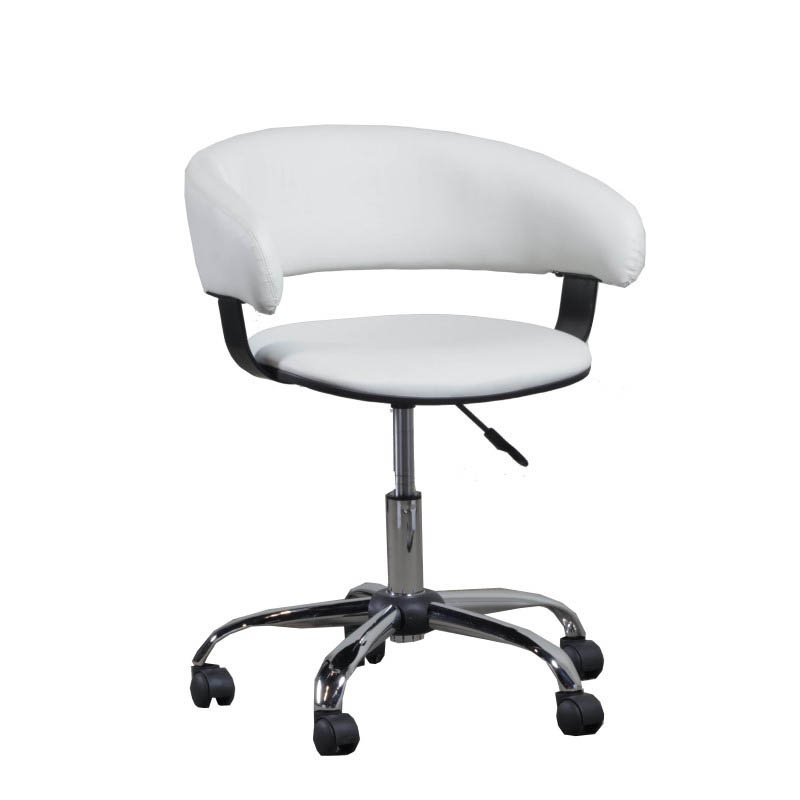 Powell Gas Lift Desk Office Chair in White