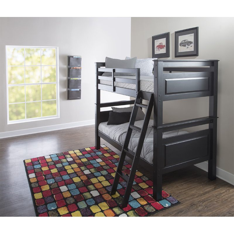 Powell Home Fashions Beckett Bunk Bed in Black (D1028Y16B)