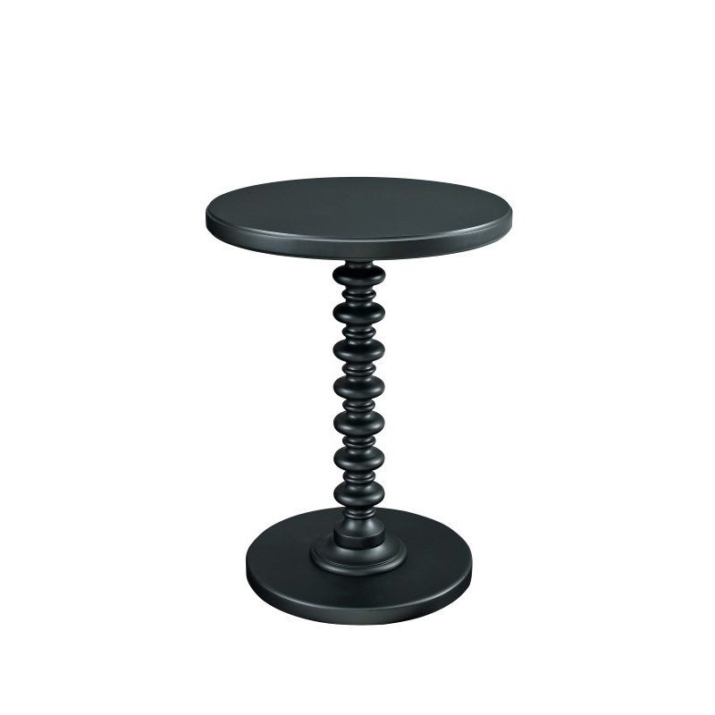 Powell Home Fashions Black Round Spindle Table (502-410)
