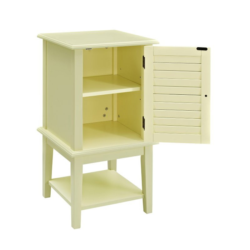 Powell Home Fashions Buttercup Yellow Shutter Door Table (256-351)