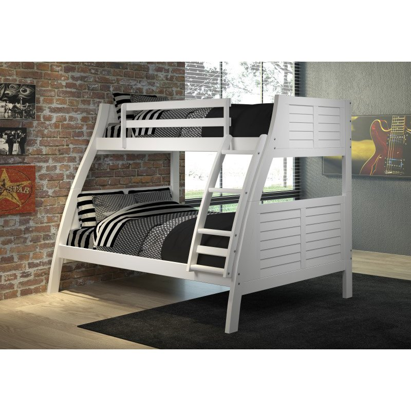 Powell Home Fashions Easton White Bunk Bed (16Y8185BBW)