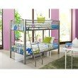 Powell Home Fashions Heavy Metal Pewter Twin Over Twin Bunk Bed (941-138)