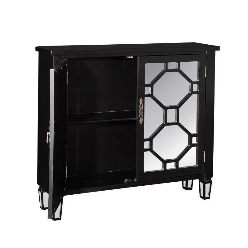 Powell Home Fashions Hex Black 2 Door Console (16A2040BL)