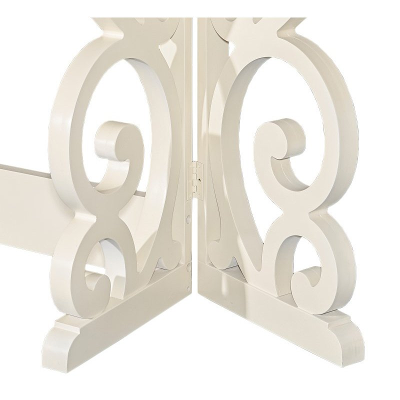 Powell Home Fashions Maya Console in Vanilla (D1010A16)