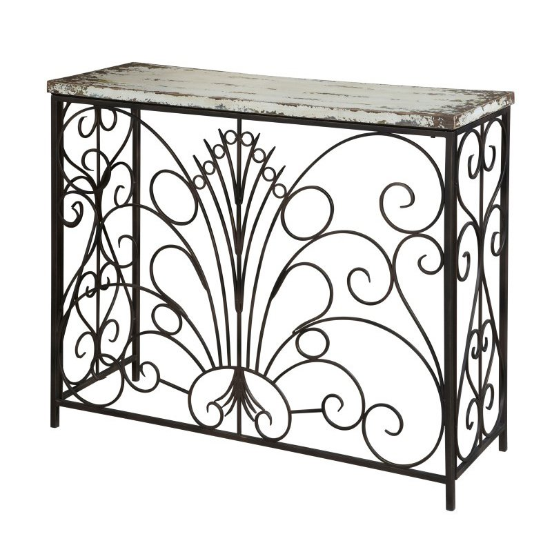 Powell Home Fashions Parcel White Console Table (990-225)