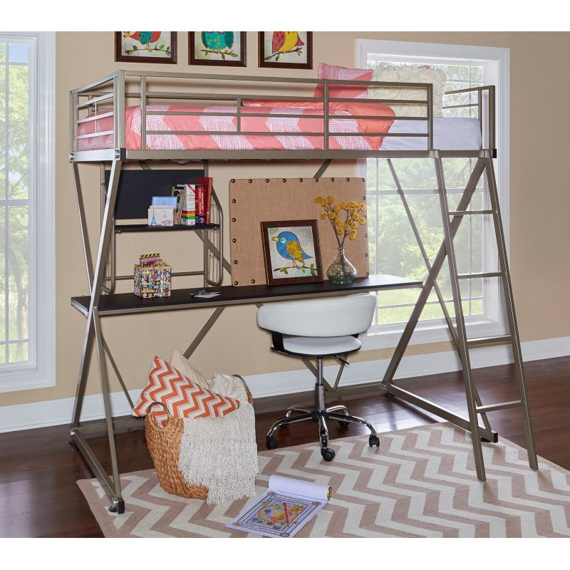 Powell Home Fashions Pewter Z Loft Bed (941-119)