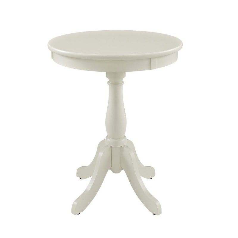 Powell Home Fashions Round White Table (929-711)