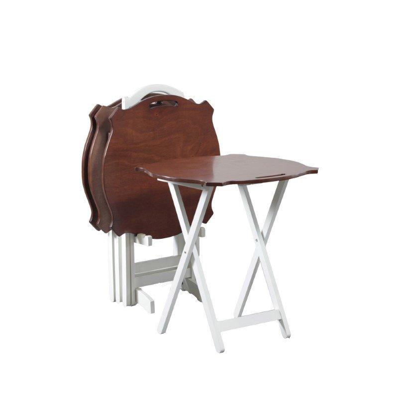 Powell Home Fashions Serpentine Black Tray Table (15A8088TT)