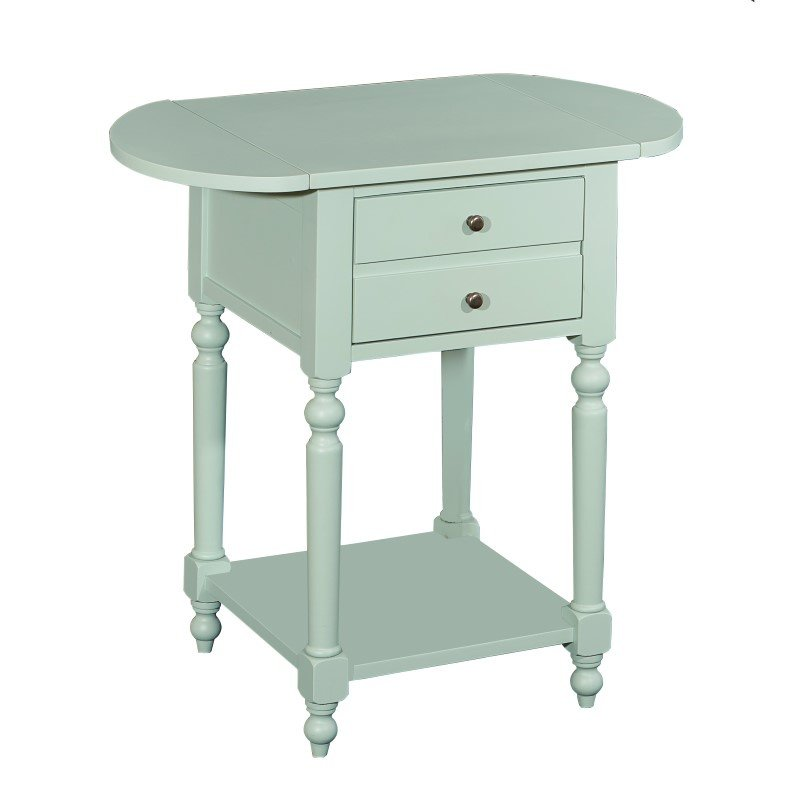 Powell Home Fashions Shiloh Aqua Table with Dropleaf (16A8258A)