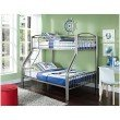 Powell Home Fashions Twin Over Full Pewter Bed (941-192)