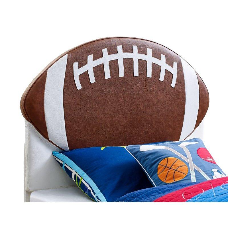 Powell Home Fashions Upholstered Football Twin Headboard (888-039)