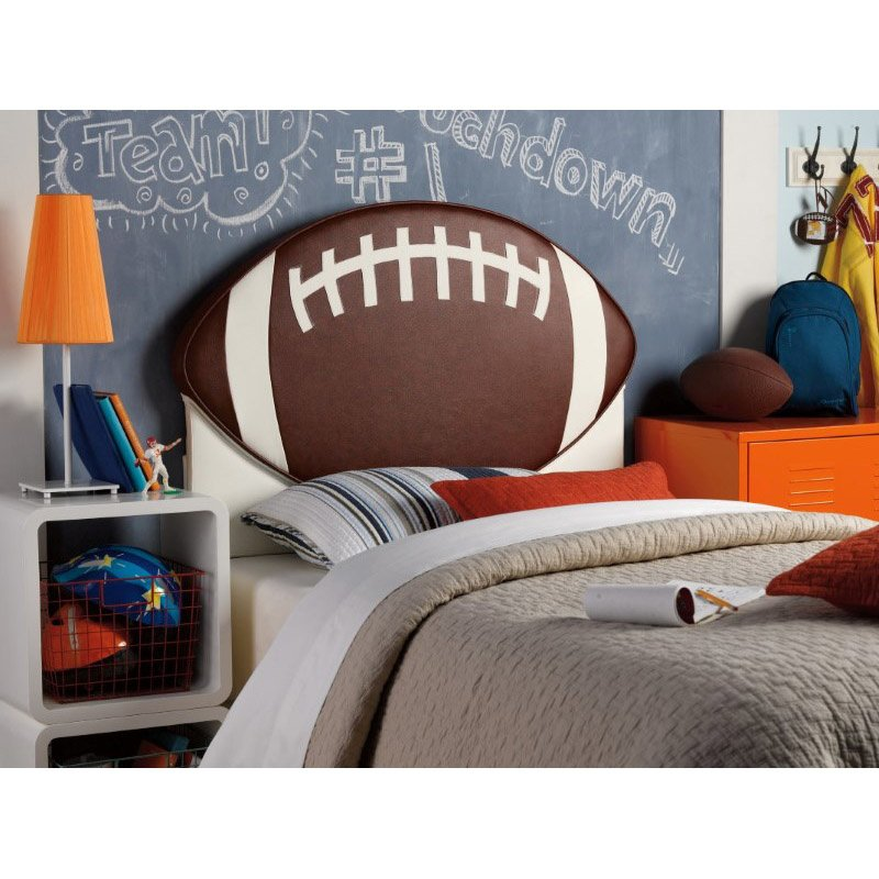 Powell Home Fashions Upholstered Football Twin Headboard (888-039)