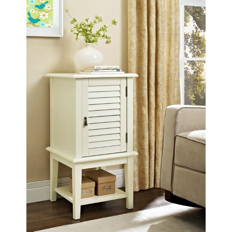 Powell Home Fashions White Shutter Door Table (929-352)