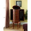 Powell Jewelry Armoire in Woodland Cherry Finish