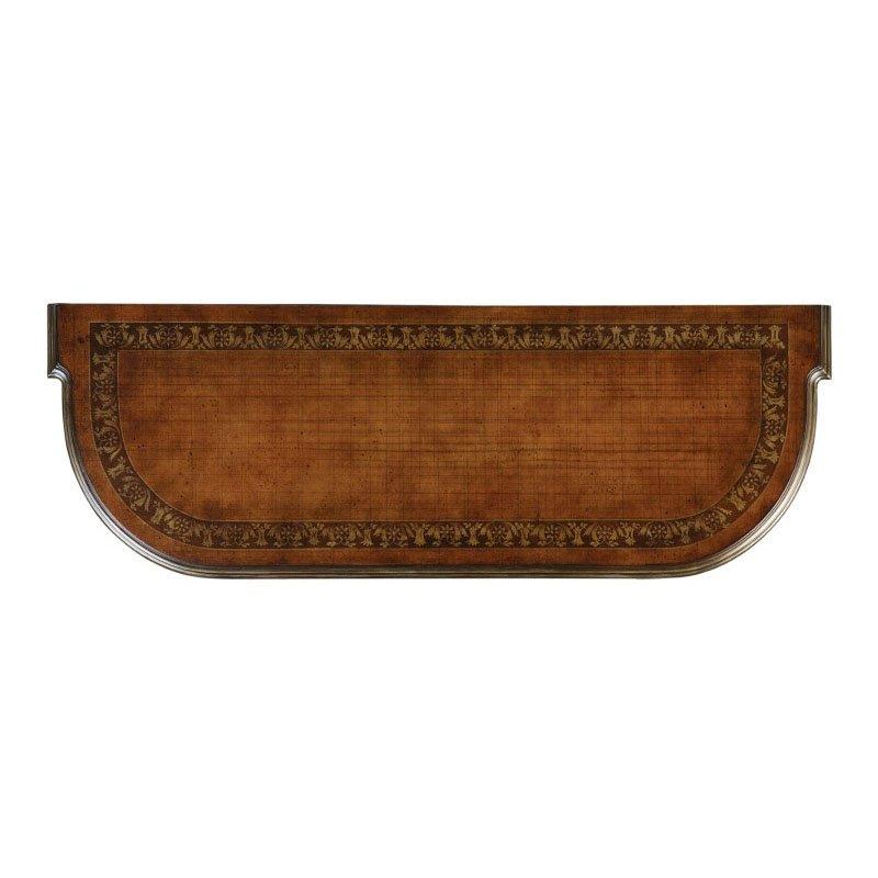 Powell Masterpiece Mahogany Wild Horses Console Table