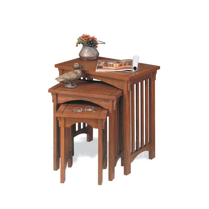 Powell Mission Oak 3-Piece Nested Tables