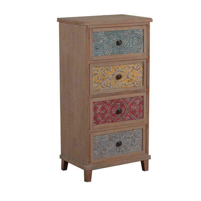 Powell Molly Tall Accent Chest in Driftwood