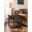 Powell Passages Rectangle End Table in Brown