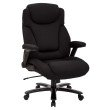 Pro-Line II Big and Tall Deluxe High Back Black Fabric Executive Chair with Padded Flip Arms