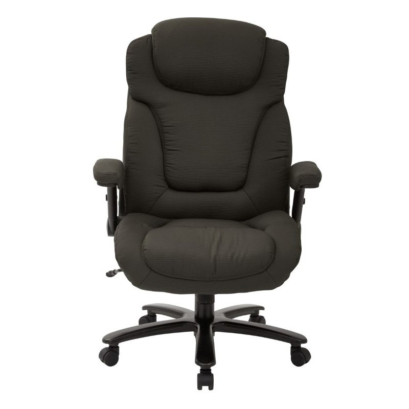 Pro-Line II Big and Tall Deluxe High Back Charcoal Fabric Executive Chair with Padded Flip Arms