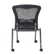 Pro-Line II Deluxe Armless Folding Chair With ProGrid Back' Casters and Titanium Finish (Set of 2)
