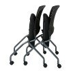 Pro-Line II Deluxe Armless Folding Chair With Silver/Metal Back' Caster and Titanium Finish (Set of 2)