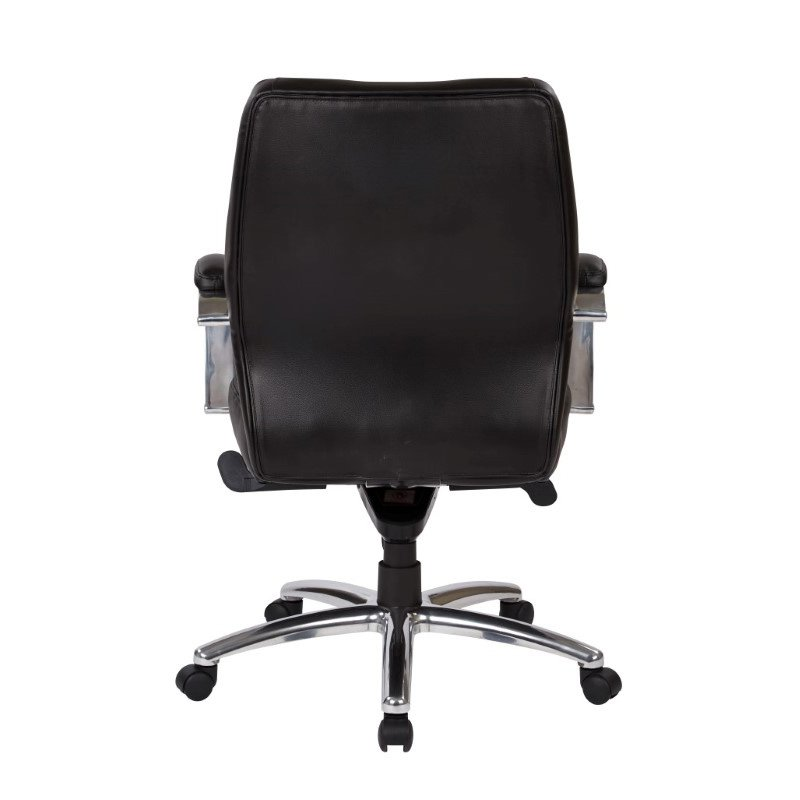 Pro-Line II Deluxe Mid Back Executive Black Bonded Leather Chair