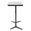 Pro-Line II Pneumatic Height Adjustable Table with White Dry-Erase Table Top and Titanium Base
