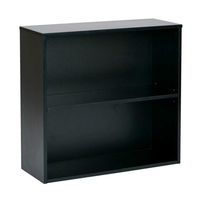 "Pro-Line II Prado 30"" 2 Shelf Bookcase' 3/4"" Shelf in Black"