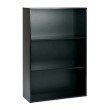 "Pro-Line II Prado 48"" 3-Shelf BookCase with 3/4"" Shelves and 2 Adjustable Shelves in Black"