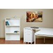 """Pro-Line II Prado 48"""" 3-Shelf Bookcase with 3/4"""" Shelves and 2 Adjustable shelves in White"""
