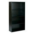 """Pro-Line II Prado 60"""" 4-Shelf Bookcase with 3/4"""" Shelves and 2 Adjustable and 2 Fixed Shelves in Black"""